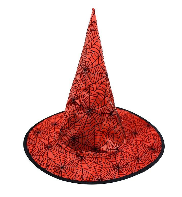 67a8cbc93 Klobúk čarodejnícky červený pre dospelých